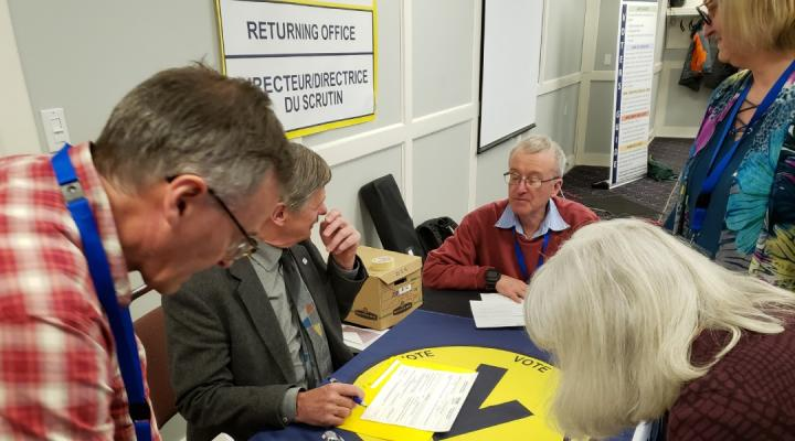 Elections Staff Around A Table For Recruitment