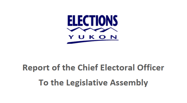 Report of the Chief Electoral Officer To The Legislative Assebmly Dec 18, 2020